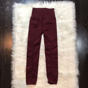 Free People Pants - Free People Leggings XS/S in Redwood
